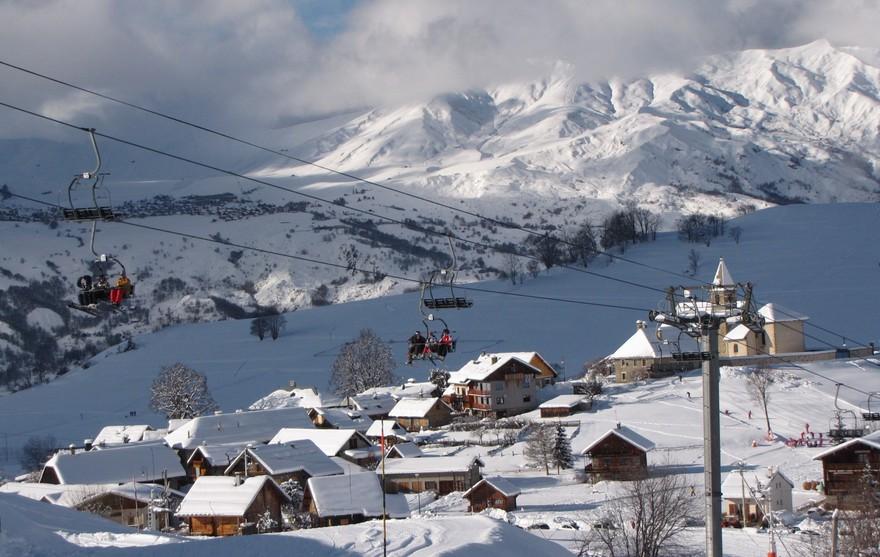 Village d'Albiez depuis les pistes