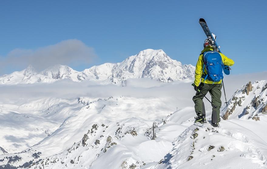 Mont-Blanc - Skieur
