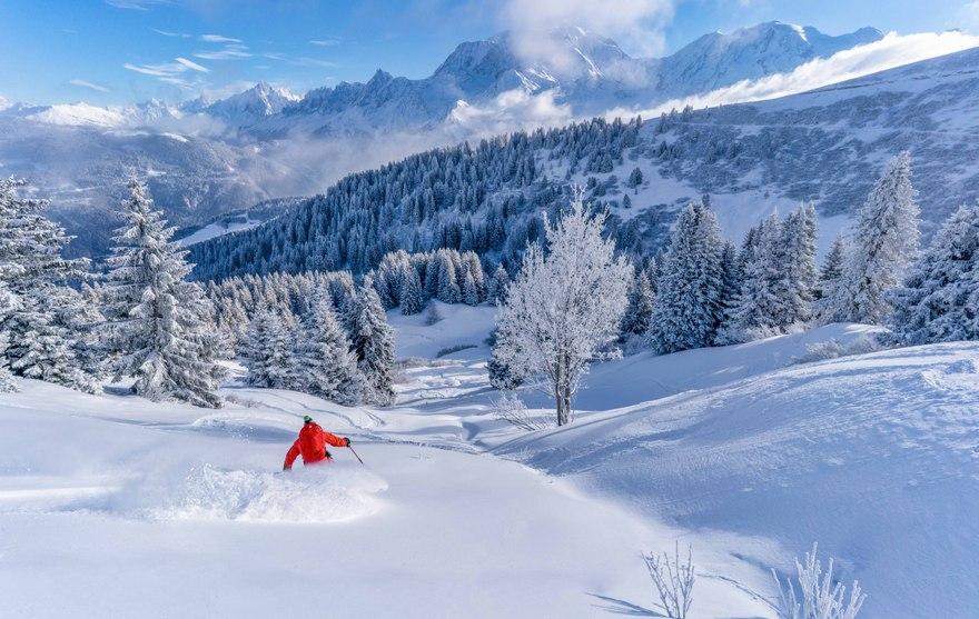 Ski sur le Domaine Evasion Mont Blanc