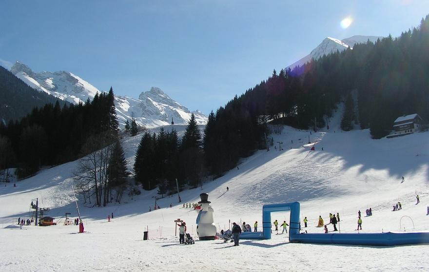 Ski au centre village
