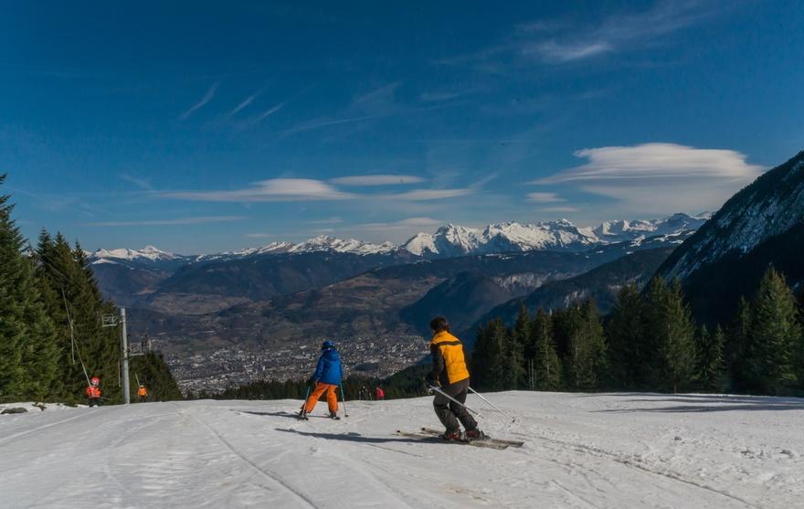 Ski avec vue
