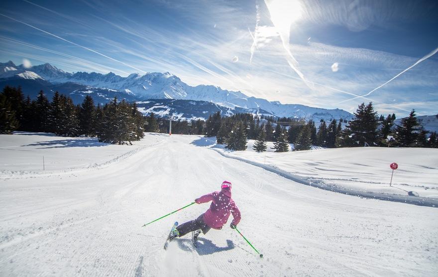 Ski sur Les Portes du Mont-Blanc