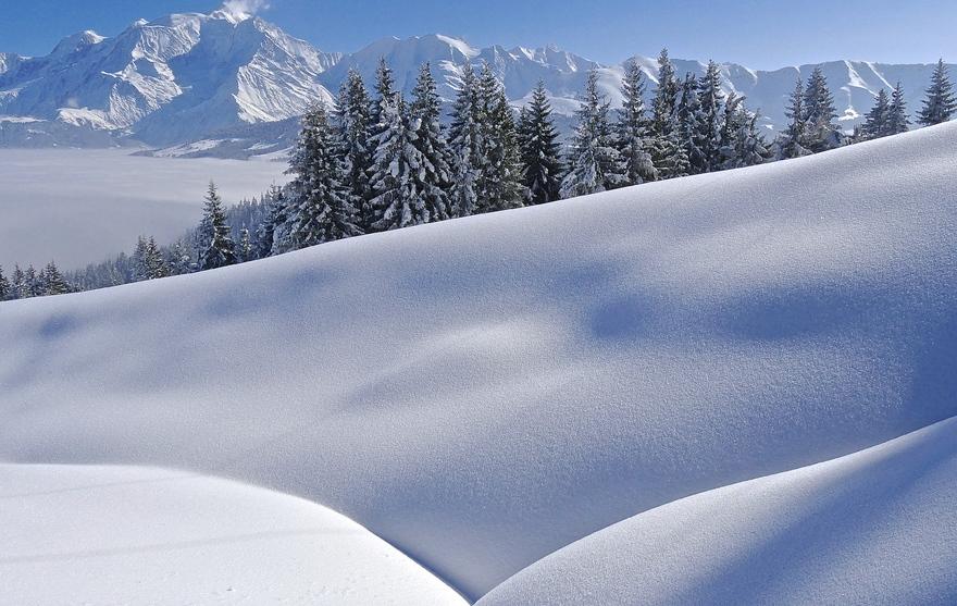 Paysage hivernale Combloux