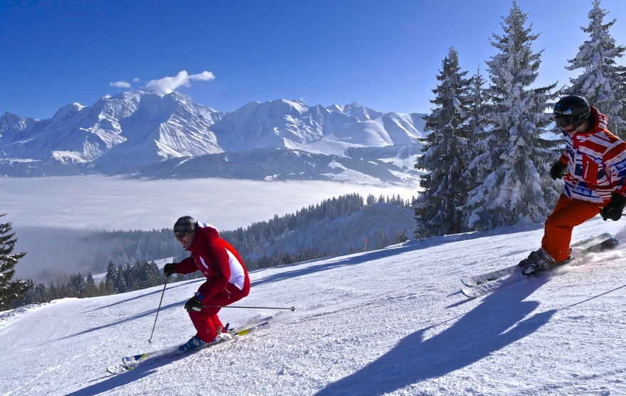 """Ski sur le domaine """"Les Portes du Mont-Blanc"""""""