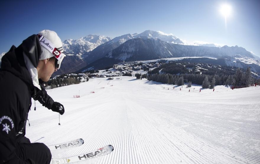 Skieur à Courchevel