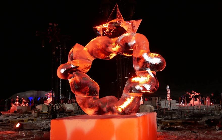 Valloire - Concours de Sculpture sur Glace