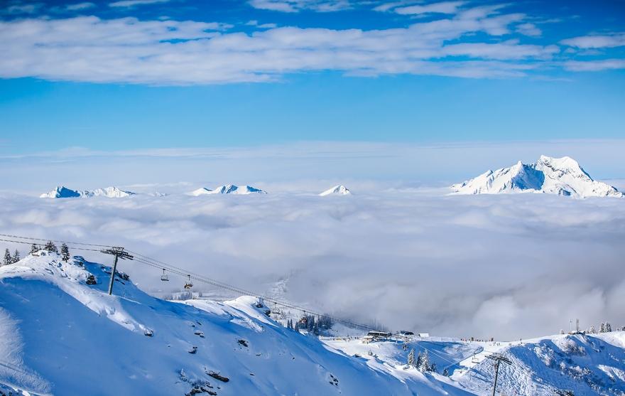 Le domaine skiable de Châtel