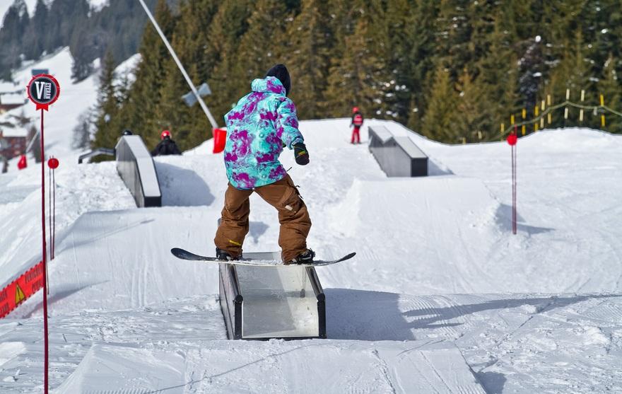 Le snowpark de Châtel
