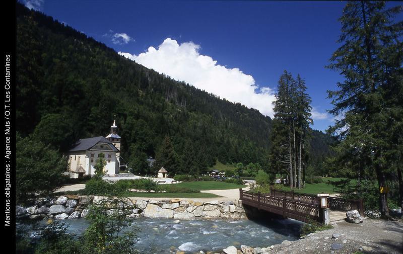 Eglise de notre dame de la gorge savoie mont blanc savoie et haute savoie alpes - Office tourisme les contamines montjoie ...