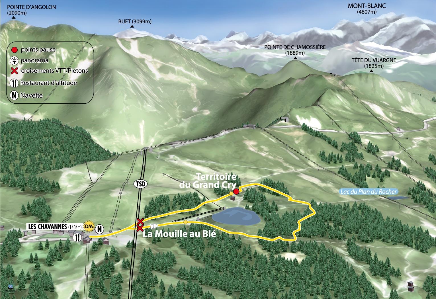 Le Sentier des Myrtilles in Les Gets French Alps Savoie Mont Blanc