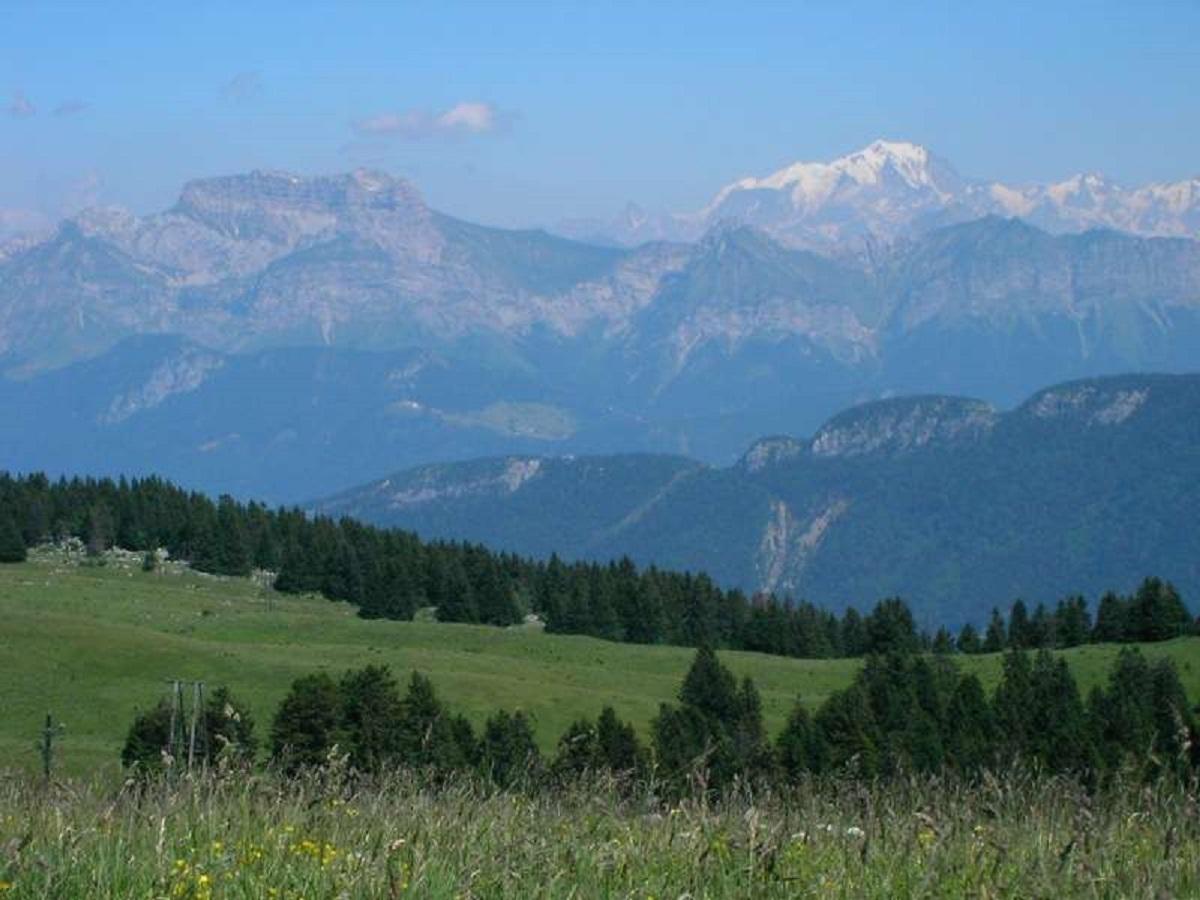 Panorama Du Plateau Du Semnoz Savoie Mont Blanc Savoie