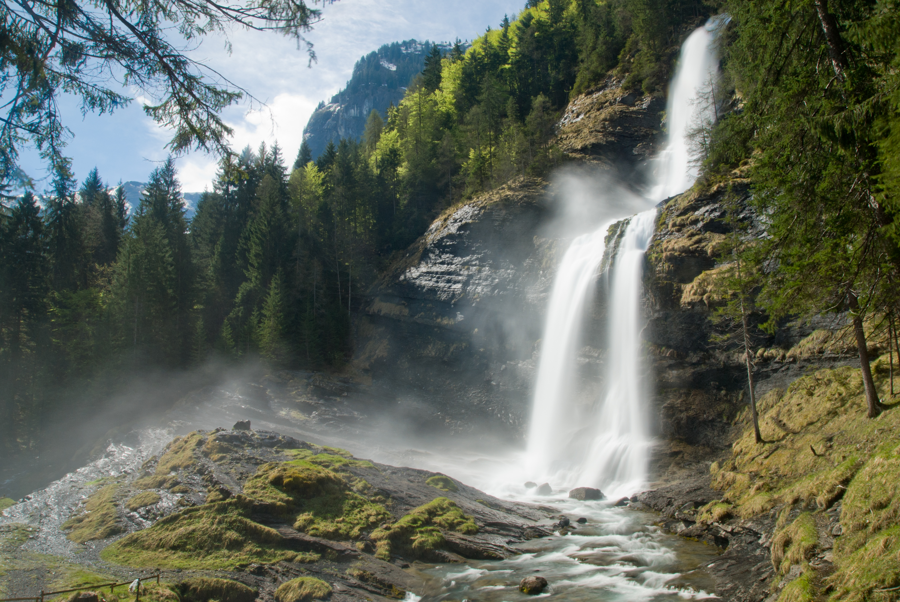 The Cascade du Rouget in Sixt-Fer-à-Cheval - French Alps ...