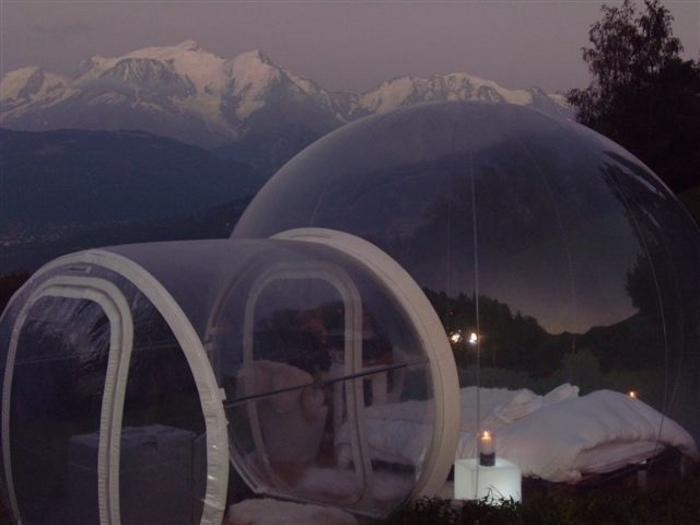 Une nuit insolite dans la bulle nuit nature savoie mont blanc - Nuit insolite en montagne ...