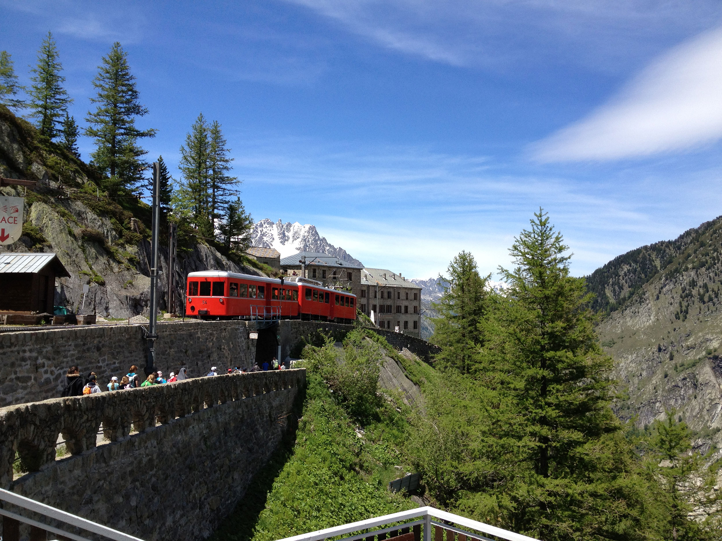 Montenvers train Mer de Glace in ChamonixMontBlanc French Alps