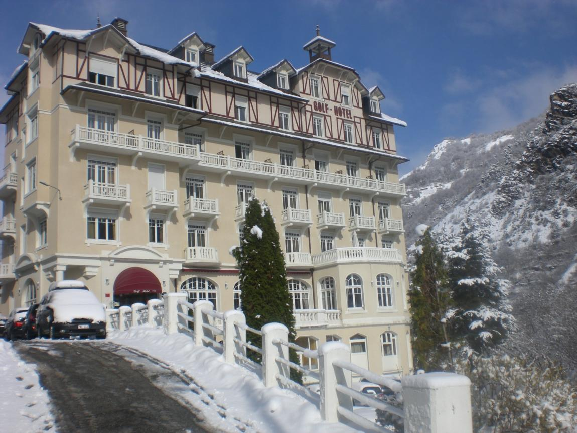 Golf hotel in brides les bains french alps savoie mont for Hotel axe les bains