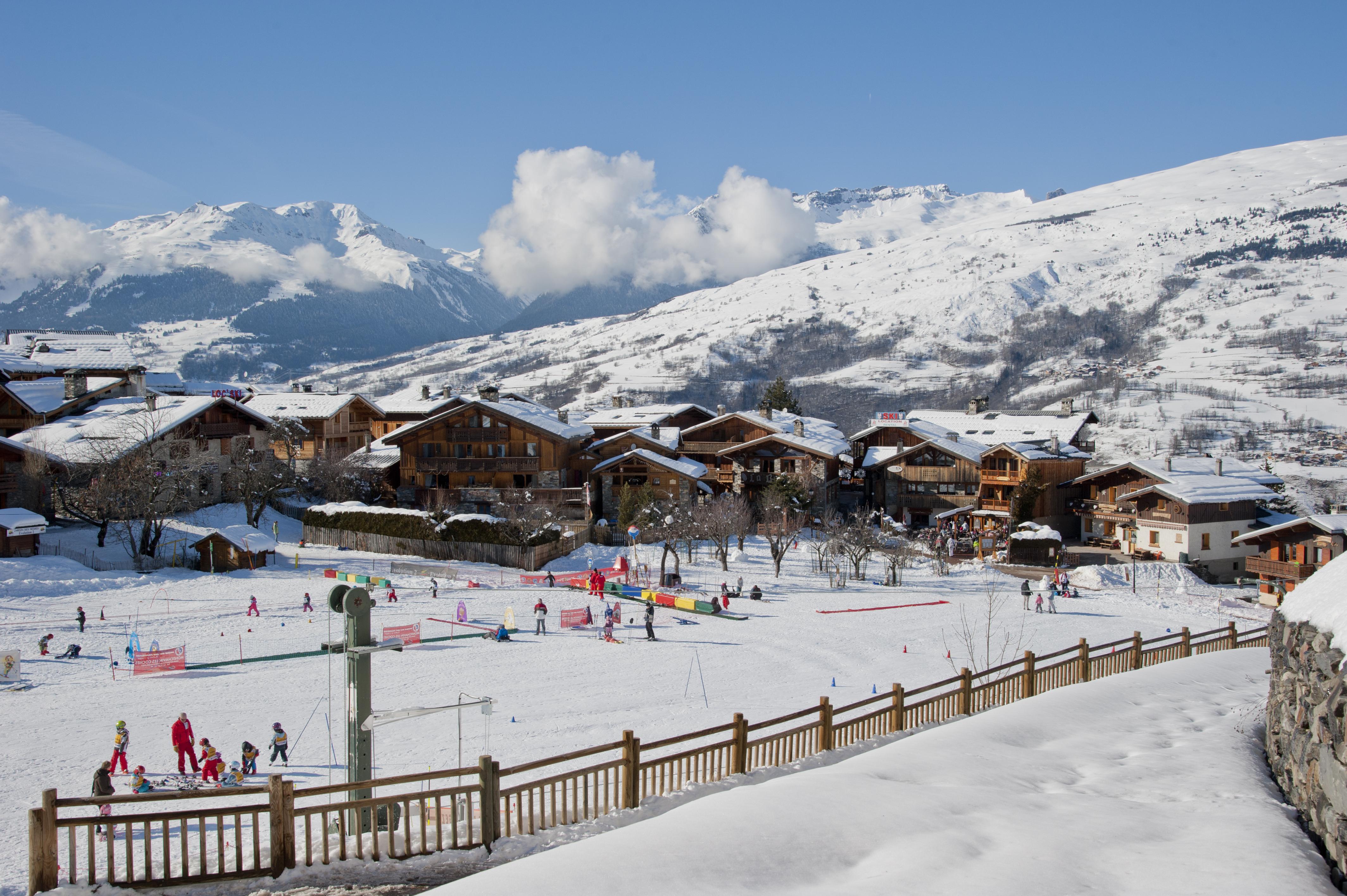 Montchavinla Plagne French Alps Savoie Mont Blanc