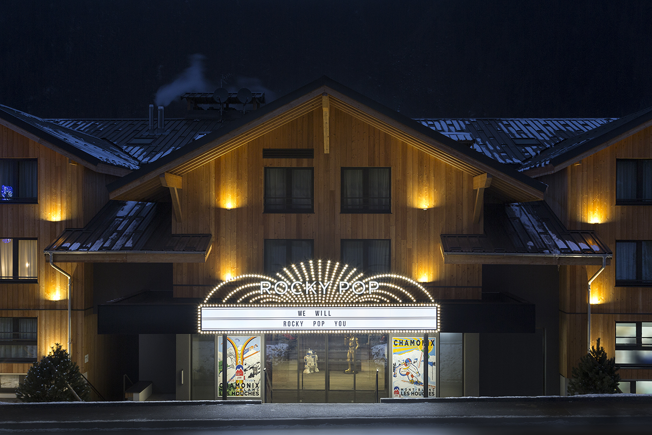 Rockypop hotel portes de chamonix savoie mont blanc for Hotels chamonix